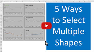 Organizational Chart Entity Shapes 5 Ways To Select Multiple Shapes Excel Campus