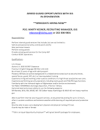 Kansas Security Officer Cover Letter Maintenance Apprentice Cover