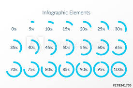 30 45 60 Chart Percentage Vector Infographic Icons 0 5 10 15 20 25 30 35