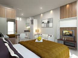 Fancy And Cool Decorating Ideas For Studio Apartment Interiors  Awesome  Efficiency Apartment Interior With White