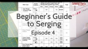 Beginners Guide To Serging Ep 4 Overlock Stitch Intro To Tension