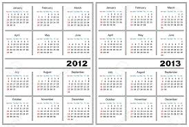 Calendar 2013 Template Template Of A Calendar Of White Color A Calendar For 2012 And