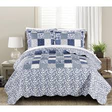 details about in twin size quilt set bedspread sham bedroom linen 2 piece fl patchwork