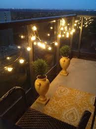 Decorations:Enchanting Outdoor Globe String Lights In Glass Fence Idea  Enchanting Outdoor Globe String Lights