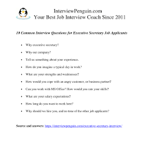 Interview Questions For Executive Assistants 7 Difficult Interview Questions For Executive Secretary