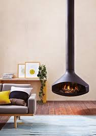 suspended fireplaces oblica round house co