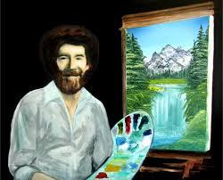 bob ross oil painting portrait by sfx silvia hartmann