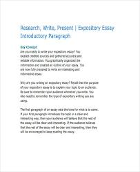 essay writing examples expository research