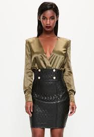Peace + Love Black Quilted Faux Leather Mini Skirt | Missguided & Peace + Love Black Quilted Faux Leather Mini Skirt Adamdwight.com
