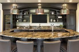 granite counters in kitchen with backsplash