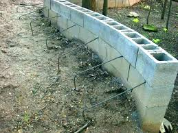 how to build a cinder block garden wall building a block retaining wall building a cinder