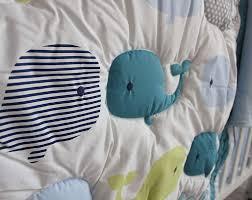 com new baby boy ocean whale 8pcs crib bedding set with per