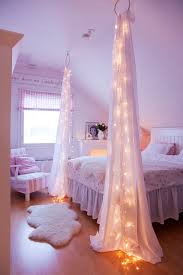 diy bedroom decor projects. string light diy ideas for cool home decor | starry bed post are fun teens diy bedroom projects o