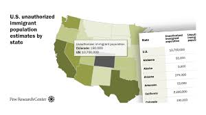 U S Unauthorized Immigrant Population Estimates By State