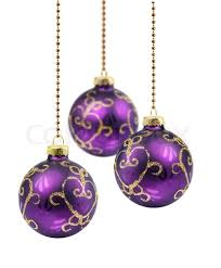 Purple Balls For Decoration Gorgeous Purple Christmas Balls Stock Photo Colourbox