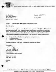 Letter Of Csa Compliance