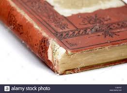 old book binding showing wear stock image