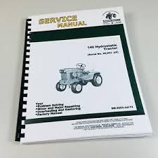 service manual for john deere 140 lawn