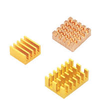 <b>1x Copper</b> + <b>2x</b> Aluminum Gold Radiator with Back Glue for ...