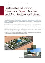 Sustainable Campus Design Pdf Sustainable Education Campus In Spain Nature And
