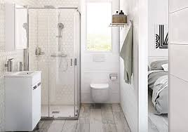 4 add a seamless glass shower door to your small bathroom