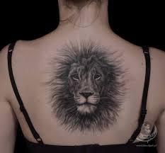 Lion Back Tattoos Designs Grey Lion Back Tattoo Amazing Tattoo Ideas