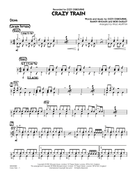 drum set sheet music download crazy train drums sheet music by ozzy osbourne sheet