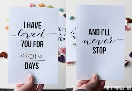 I Have Loved You For This Many Days Free Romantic Valentine's Day Magnificent Free Printable Anniversary Cards For Her