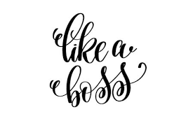 Ung Quote Unique Like A Boss Hand Written Lettering Positive Quote Royalty Free