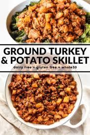 Chop the jalapeño, red chili, onion, and garlic. Ground Turkey Potato Skillet The Whole Cook
