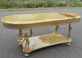 yx top gilt metal coffee table
