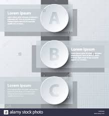three topics simple white d paper circle on double layer for stock vector three topics simple white 3d paper circle on double layer for website presentation cover poster vector design infographic illustration