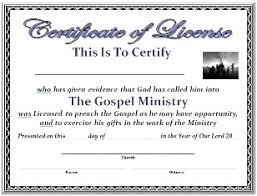 Ordination Certificate Template Church Certificates