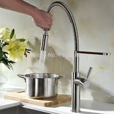 Higharch Touch On Pull Out Down Sprayer Spring Kitchen Sink Faucet  360 Swivel Spout Hot And Cold Water Mixture Touch Sink Faucet E3