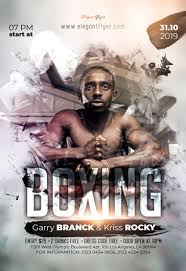 Free Flyer Boxing Event Free Flyer Psd Template By Elegantflyer