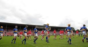the cork and tipperary teams parade before the 2006 munster final which attracted a crowd of