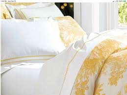 details about pottery barn matrine toile king duvet marigold yellow cotton linen blend