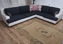 Eck Sofa Wohnlandschaft Couch In L