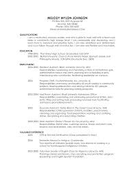 Examples Of Graduate School Resumes