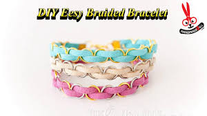 diy friendship bracelets how to diy easy braided bracelet tutorial handmade4all