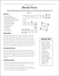 Blends Picnic Consonant Blends Pocket Chart Game