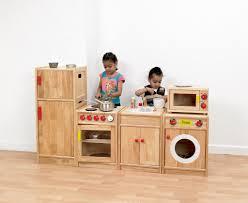 5 piece solid hardwood kitchen pretend play kitchen