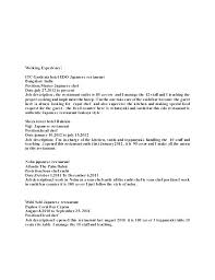 Sample Work Resume – Amere
