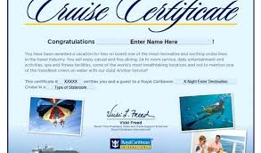 Cruise Gift Certificate Template Cruise Gift Certificate Template Certificate Template Cruise