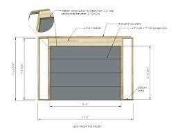 garage door header framing detail span table for a roll up shed standard garage door header construction