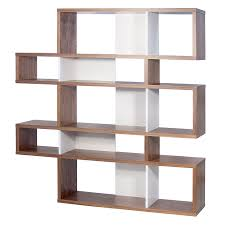 modern furniture shelves. Call To Order · London Walnut + White Modern Double Height Bookcase Furniture Shelves M