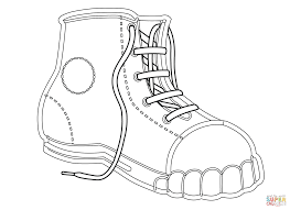 Kids Coloring Pages Canvas Shoe Coloring Page Free Printable