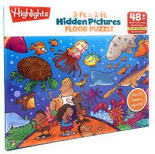 Hidden image jigsaw puzzles are popular among the puzzler community. Vista Puzzles 48 Piece Preschool Educational Jigsaw Puzzle For Kids Highlights Aquarium Hidden Pictures Floor Puzzle 3 Feet X 2 Feet Walmart Com Walmart Com