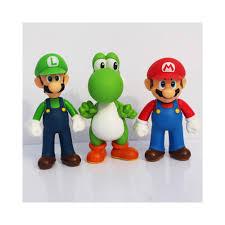 Super Mario Bros Bedroom Decor 12cm Super Mario Bros Game Anime Action Figure Mario Model Toy