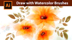 free watercolor brushes illustrator adobe illustrator tutorial how to draw with watercolor brushes